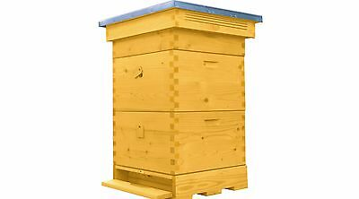 Wooden Beehive Bee Hive 1 Brood 2 Supers Frames Flat Roof