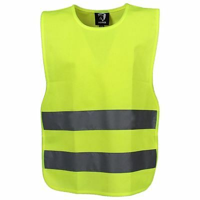 Horka Vest With Elastic Fluorescent & Reflective Lightweight Horse Rider Safety