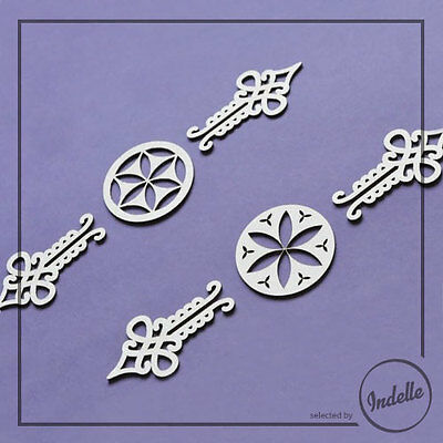 Chipboard Ornaments Card Making Papercraft Scrapbooking Shapes 6 PIECES