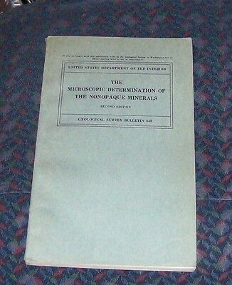 The Microscopic Determination of the Nonopaque Minerals 1934 2nd ed. paperback