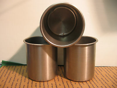 Lot Of 3 Bain Marie Pots 3-1/2 Qt. Stainless Steel
