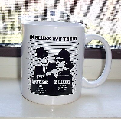 Advertising House of Blues Elwood & Jake Atlantic City coffee mug  RARE