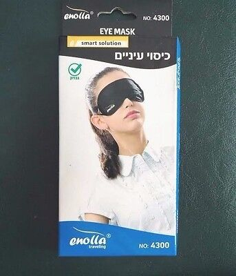 Mask Eye Sleep Blindfold Travel Cover Sleeping Home Relax Soft Rest New Enolla