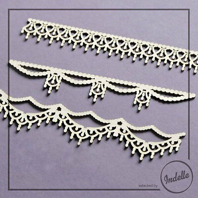 Elegant Diamond Borders Chipboard Shapes Card Making Scrapbooking 3 Elements