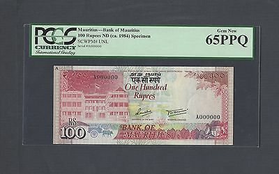 Mauritius 100 Rupees ND(ca.1984) Unissued  Specimen Uncirculated