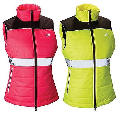 Harry Hall Hi Viz Womens Rear Double Vents Equestiran Reflective Down Like Gilet