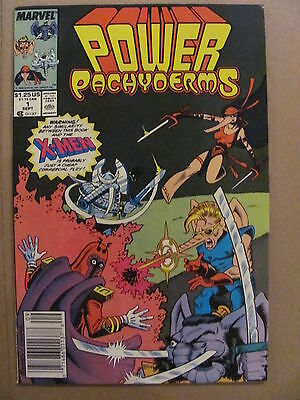 Power Pachyderms #1 Marvel Comics 1989 One-Shot Parody Newsstand Edition 9.2 NM-