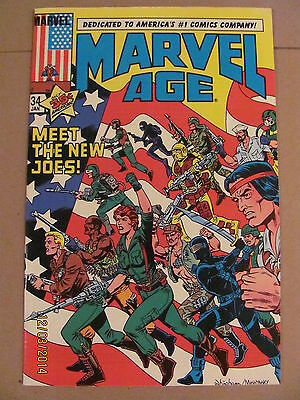 Marvel Age #34 The Official Marvel News Magazine GI Joe Preview 1986
