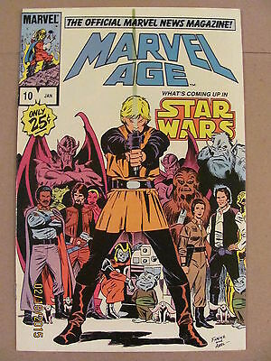 Marvel Age #10 The Official Marvel News Magazine Star Wars Preview 1984 9.2 NM-