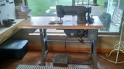 Singer Commercial Sewing Machine with Walking Foot 211G155 and table