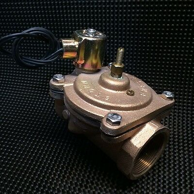"""Brand New Storm Industrial 2"""" Normally Closed Solenoid Valve 110v Brass USA Made"""