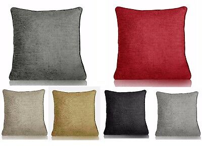 """Classic Chenille Cushion/Sofa Covers 2 Sizes 18""""x 18"""" Or 22""""x 22"""" Great Value"""