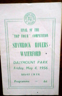 Shamrock Rovers V Waterford 4/5/1956 Top Four Final