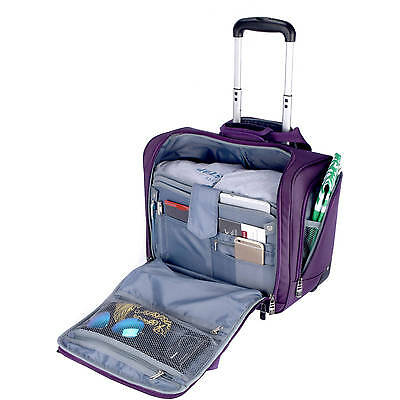 Rolling Luggage Carry On Bag Trolley Under Seat Travel New For Women Men Adults