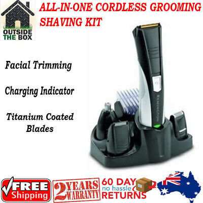 All-in-One Cordless Grooming Shaving Kit Haircut Nose Facial Trimming 4 Men New