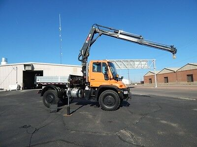 2004 HIAB 095-4 knuckle boom crane with subframe and bed for Unimog U500