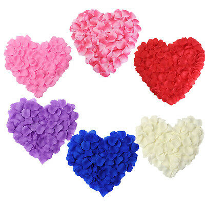 2000pcs Silk Rose Flower Petals For Engagement Wedding Party Confetti Table
