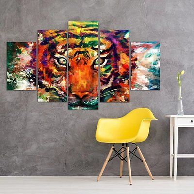 HD Printed Modern Abstract Oil Painting Wall Decor Art Huge - Pretty tiger head