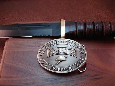 United States Army Ranger  Warrior Knife And Belt Buckle