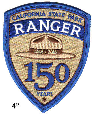 "California State Park Ranger - 4"" 150th Anniversary Logo Patch - large size"