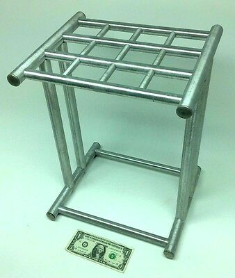 MID-CENTURY Vintage Business/Office Metal ALUMINUM HOLDS 12 Umbrella Stand WO