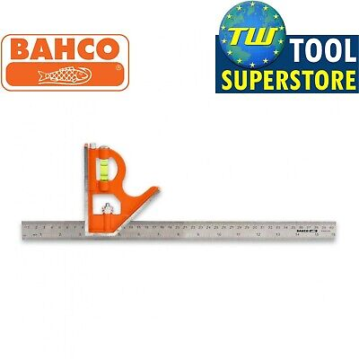 Bahco 16in Combination Set Square 400mm Stainless Steel Ruler Spirit Level CS400