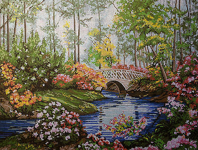 Gobelin Tapestry Needlepoint Kit Kinkade  printed canvas 077