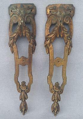 Pair of antique furniture ornaments made of ormolu France 19th cenury