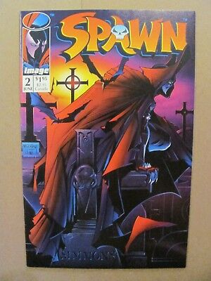Spawn #2 Image Comics 1992 Series Todd McFarlane 1st app Violator 9.2 Near Mint-