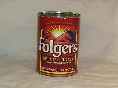 Vintage Special Roast Folgers Coffee Can 11.5oz Tin Metal NO LID