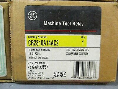 Ge Cr2810A14Ac2, Machine Tool Relay- New