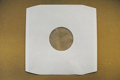 """50 X 12"""" POLYLINED WHITE PAPER RECORD SLEEVES NEXT DAY DISPATCH High Quality"""