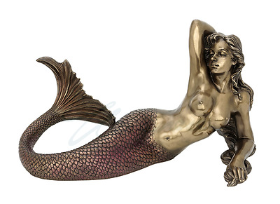 Mermaid Lying Back Statue Sculpture Figure - GIFT BOXED