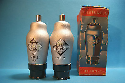 OFFERTA coppia vintage NF2 /CF7RLM Eigentum TELEFUNKEN made in Germany Tube