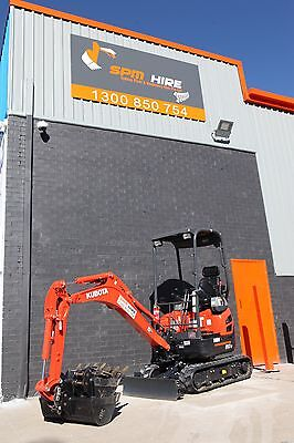 1.7 tonne Excavator Dry Hire $250 per day on FREE trailer