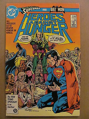 Heroes Against Hunger #1 DC Comics 1986 Superman Batman Neil Adams