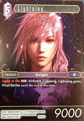 Final Fantasy TCG (FFTCG) Foil Promo Lightning PR-003 NM English
