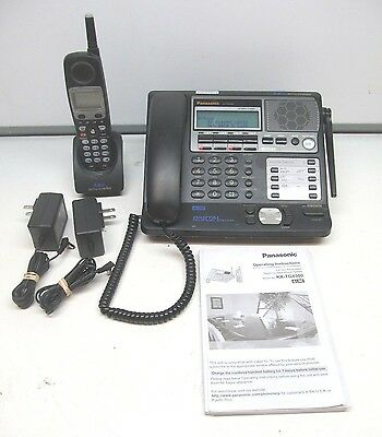 Panasonic KX-TG4500B 4 line 5.8Ghz base & (1) KX-TGA450B remote cordless phone
