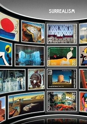 Z08 IMPERFORATED MLD16905a MALDIVES 2016 Surrealism MNH