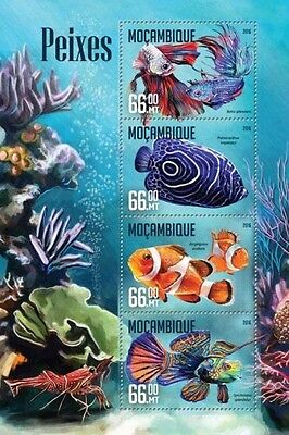 Z08 IMPERFORATED MOZ16202a MOZAMBIQUE 2016 Fishes MNH