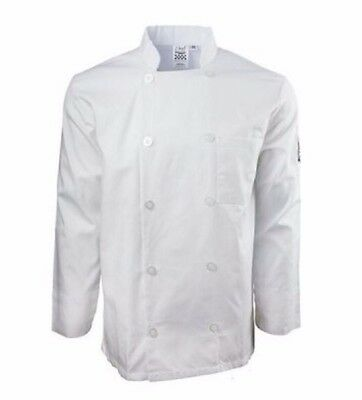 NWT Chef Cook Revival Long Sleeve Basic Jacket White Size S Small Style J100