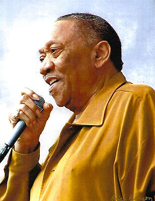 """Bobby Blue Bland Color Art Print 11"""" X 13"""" Signed By Photographer Blues"""