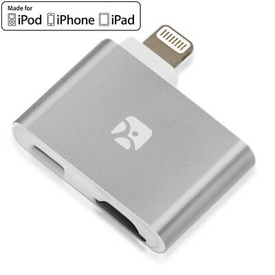 Dash-i Plus MicroSD Reader for iPhone/iPad/iPod with Lightning Port, Gray