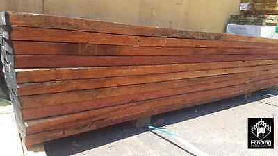 Redgum Red Gum Sleepers 200 x 50mm x 2.4mtrs Treated Pine Gal H C Steel Channels