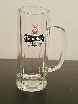 Heineken Tall Heavy 10 oz Beer Drinking Mug Glass Cup Clear Collectible SH