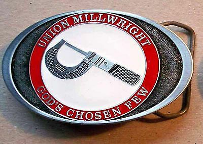 Belt Buckle Union Millwright + free starrett catalog + 2 starrett pkt charts #2