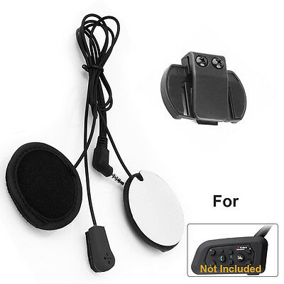 Helmet Headset for Motorcycle Intercom Bluetooth V6 BT Interphone 1200m 6Riders