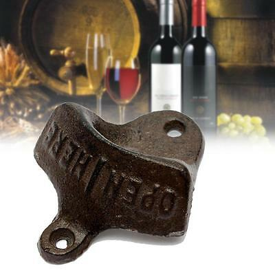 1x Cast Iron Vintage Rustic Style Collectable Wall Mounted Beer Bottle Opener AC