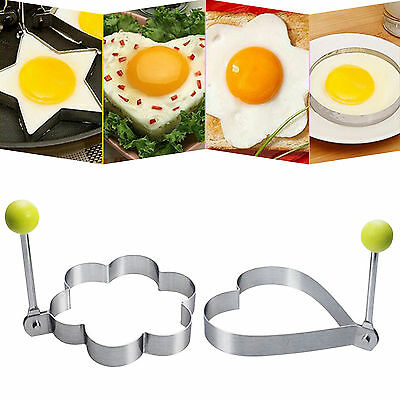 New Stainless Steel Fried Eggs Device Cooking Fried Egg Pancake Ring Mold Shaper
