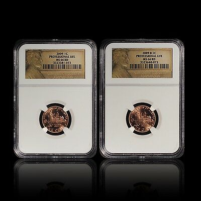 2009 1C P & D Lincoln Professional Life Set NGC MS 66 RD (2 Coin Set)